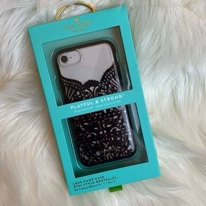 NWT Kate Spade Lace Cage iPhone Case 8/7/6s/6